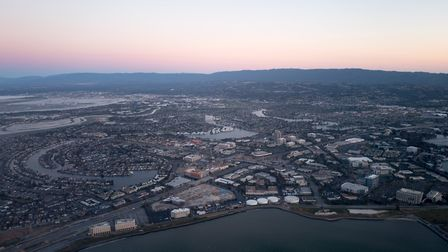 Spiritual centre: Silicon Valley in California at dusk. Picture: Getty Images
