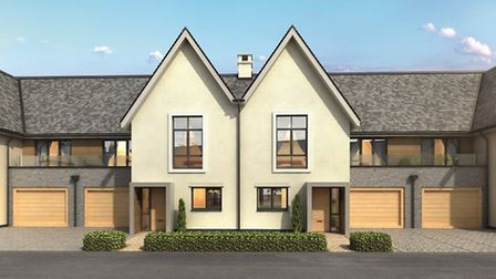 An artist's impression of what the new Clevedon Hall Estate homes will look like. Picture: Spitfire