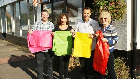 Bunting will replace flags in West Hill, Portishead, next summer.