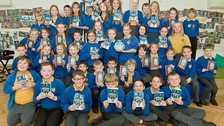 Winners of the school's reading competition.