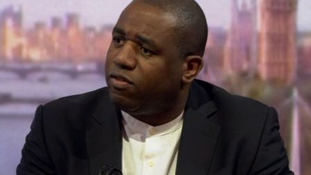 Labour MP David Lammy appearing on BBC One's Andrew Marr Show (Pic: BBC)