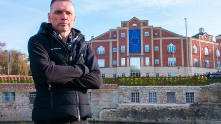 Ecotricity founder Dale Vince outside the company's European HQ. Photograph: Dale Vince/Facebook.