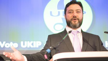 Carl Benjamin during the launch of UKIP's EU election campaign. Picture: PA Wire/Stefan Rousseau