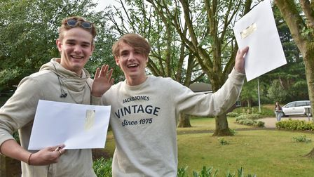 Churchill students collecting their A-Levels last year.