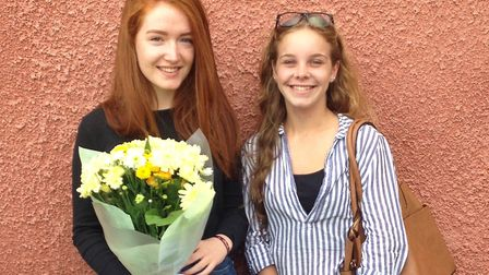 Maya Stone (left) will undertake an apprenticeship with Deloitte, with fellow A-level student Liv Bi