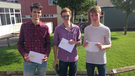 Jack Elliott (left) has earned himself a place at Plymouth University, Tom Bishop will attend the Un