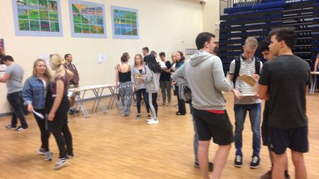 Students were allowed to pick up their results from 9am.