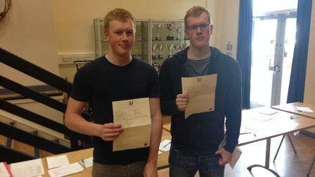 Twins Nathan and Ben Carey both received ABC in their A-level results.