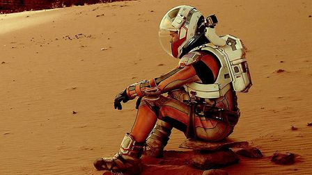 Inspired by Crusoe: Matt Damon in The Martian, 2015. Photo: IMBD