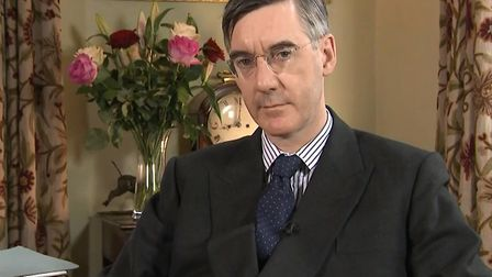 Jacob Rees-Mogg in his Somerset home. Photograph: Sky.