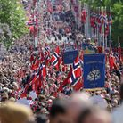 Norwegians celebrate Constitution Day in Oslo. Photo by: Gonzales Photo/Stian S. Moller/PYMCA/Avalon