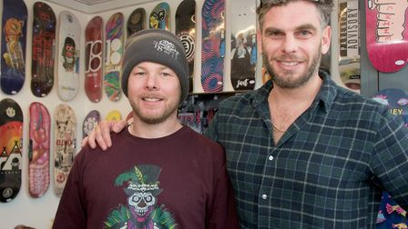 Owners Matt Stains and Stuart Walsh at Sk8 or Die. Picture: MARK ATHERTON