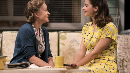 Sally Field as Kate Keller and Jenna Coleman as Ann Deever in All My Sons at The Old Vic, Credit: Jo