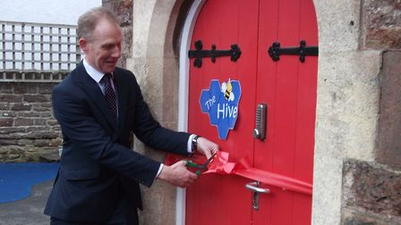 Gary Lewis officially reopened the library. Picture: Amy Townsend