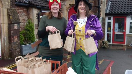 Staff donned fancy dress to celebrate the library's reopening. Picture: Amy Townsend