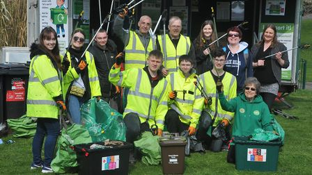 A national spring clean event was held by Friends Of Grove Park on Saturday. Picture: Jeremy Long