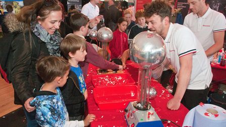 The Big Bang science show at Weston Winter Gardens. Picture: MARK ATHERTON