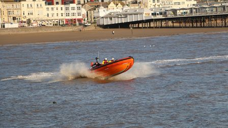 RNLI lifeboats doing circuits on Westons seafront.Picture: Roger Fry