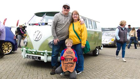 Barry Rickards stands with his 1960 splitcreen camper. Picture: Will.T.Photography