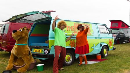 Jayne and Martin Townley have transformed their 1987 VW Wedge in to the Mystery Machine. Picture: Wi
