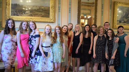 Year 13 students from Nailsea School enjoying their prom.