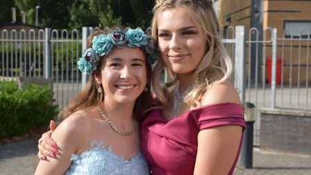 Year 11 students from Nailsea School celebrating their prom.