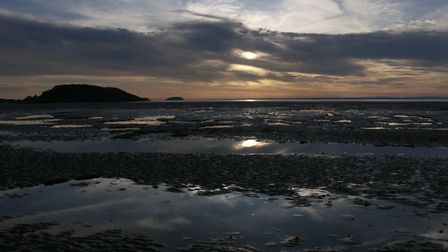 A sea of blues paint Roger Frys photo of Weston beach. Picture: Roger Fry