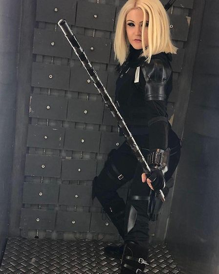 Black Widow coutery of Vanquish Time cosplay