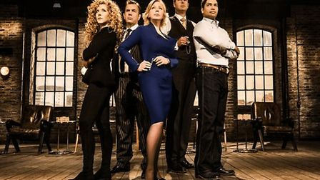 Piers (second from right) spent two years sitting on the Dragons' Den panel. Photograph: BBC.