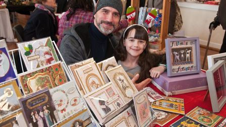 Stuart and Daisy on Kirstys Crafty Corner at Holly Hedge Animal Sanctuarys Christmas fair.Picture: M