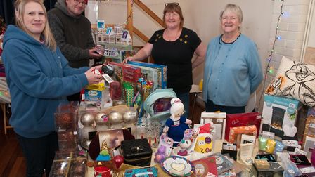 Organiser Pip Sharp with Simon Sharp and stall holders Nicola Bendall and Diane Stephens.Picture: MA
