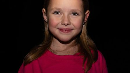 Lyra Cole, aged six, released a Christmas single for Brain Tumour Research. Pictu