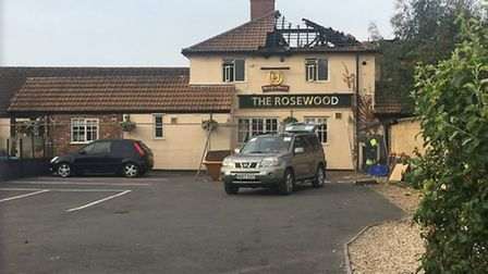 Firefighters tackled a kitchen fire at The Rosewood in June. Picture: Les Barber