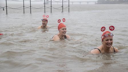 Swimmers at Clevedon Marine Lake