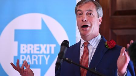 Nigel Farage at the launch of the Brexit Party in central London. Photograph: Victoria Jones/PA Wire