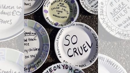 Picture of a plate protest outside Norwich North