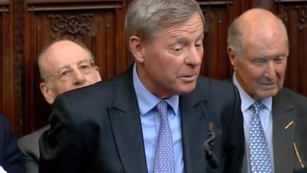 Lord Robathan in the House of Lords. Photograph: Parliament TV.