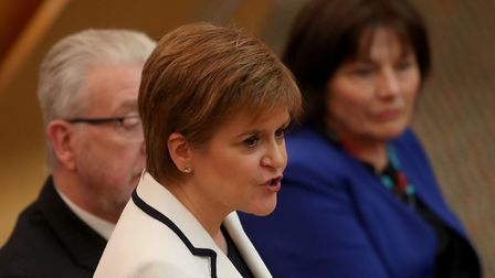 First Minister of Scotland Nicola Sturgeon issues a statement on Brexit and independence in the main