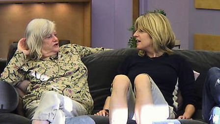 Ann Widdecombe and Rachel Johnson in the Big Brother house. Picture: Channel 5