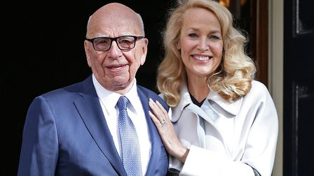 Media mogul Rupert Murdoch and Jerry Hall leave Spencer House, London, after getting married. Photog