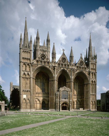 West Front of Peterborough Cathedral (Photo by Angelo Hornak/Corbis via Getty Images)