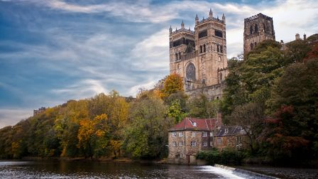 A view of Durham Cathedral and the River Wear. (Photo by: Loop Images/UIG via Getty Images)