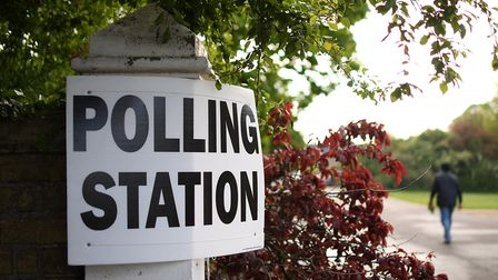 A polling station open for the elections. Photograph: Joe Giddens/PA.
