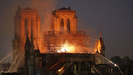 Fire Breaks Out At Iconic Notre-Dame Cathedral In Paris. (Photo by Chesnot/Getty Images)