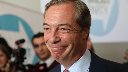 Brexit Party leader Nigel Farage. Photograph: Isabel Infantes/PA Wire