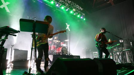 English Indie Rock band Bloc Party on stage at the O2 ABC Glasgow. Photograph: Mark Runnacles/PA.