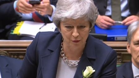 Theresa May speaking at prime minister's questions in the House of Commons (Pic: Parliament)