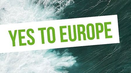 A poster for the Green Party promoting a pro-EU agenda. Image: Green Party.