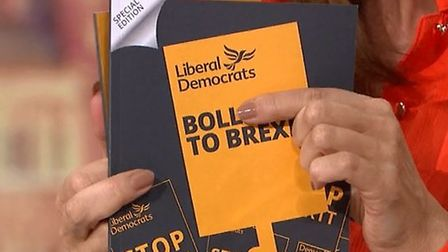 """The Lib Dems' manifesto featuring the """"Bollocks to Brexit"""" messaging is discussed on Good Morning Br"""