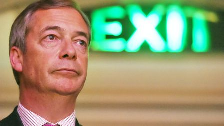 Nigel Farage at a Leave Means Leave rally at Central Hall in London. Picture: PA/Kirsty O'Connor